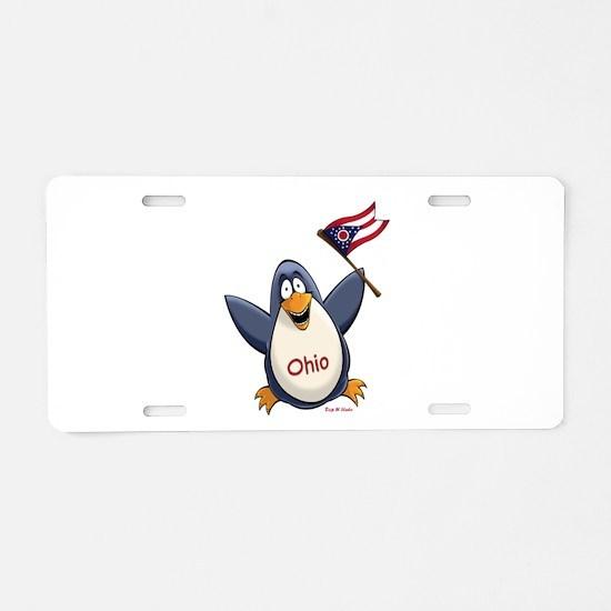 Ohio Penguin Aluminum License Plate