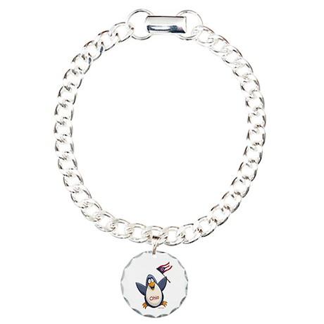 Ohio Penguin Charm Bracelet, One Charm