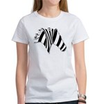 Zebra Swirl Art Women's T-Shirt