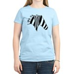Zebra Swirl Art Women's Light T-Shirt