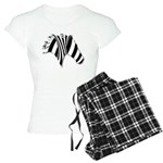 Zebra Swirl Art Women's Light Pajamas