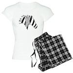 Zebra Swirl Art Women's Light Pajamas