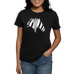 Zebra Swirl Art Women's Dark T-Shirt