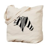 Zebra Swirl Art Tote Bag