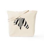 Zebra Swirl Art Tote Bag