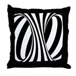 Zebra Swirl Art Throw Pillow