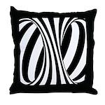Zebra Swirl Art Throw Pillow