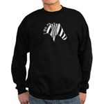 Zebra Swirl Art Sweatshirt (dark)