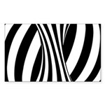 Zebra Swirl Art Sticker (Rectangle)