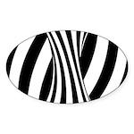 Zebra Swirl Art Sticker (Oval)