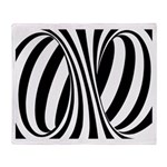 Zebra Swirl Art Throw Blanket