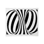 Zebra Swirl Art Throw Blanket