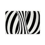 Zebra Swirl Art Rectangle Magnet (100 pack)