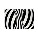 Zebra Swirl Art Rectangle Magnet
