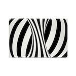 Zebra Swirl Art Rectangle Magnet
