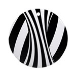 Zebra Swirl Art Ornament (Round)