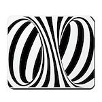 Zebra Swirl Art Mousepad