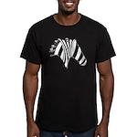 Zebra Swirl Art Men's Fitted T-Shirt (dark)