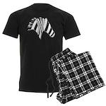 Zebra Swirl Art Men's Dark Pajamas