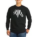Zebra Swirl Art Long Sleeve Dark T-Shirt