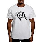 Zebra Swirl Art Light T-Shirt