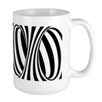 Zebra Swirl Art Large Mug