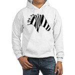 Zebra Swirl Art Hooded Sweatshirt