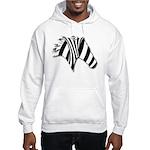 Zebra Swirl Art Hooded Sweatshirt