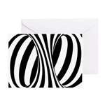 Zebra Swirl Art Greeting Cards (Pk of 20)