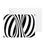 Zebra Swirl Art Greeting Cards (Pk of 20)