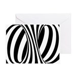 Zebra Swirl Art Greeting Card