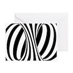Zebra Swirl Art Greeting Card