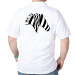 Zebra Swirl Art Golf Shirt