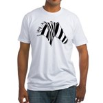 Zebra Swirl Art Fitted T-Shirt