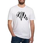 Zebra Swirl Art Fitted T-Shirt