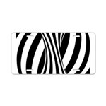 Zebra Swirl Art Aluminum License Plate