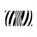 Zebra Swirl Art Aluminum License Plate