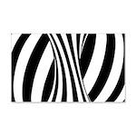 Zebra Swirl Art 22x14 Wall Peel