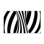 Zebra Swirl Art 22x14 Wall Peel