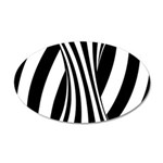 Zebra Swirl Art 22x14 Oval Wall Peel