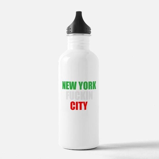 New York Fuckin City Italy Water Bottle