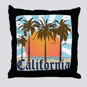 Vintage California Throw Pillow