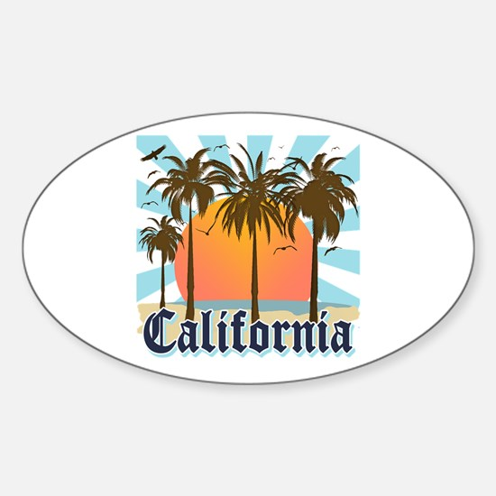 Vintage California Sticker (Oval)