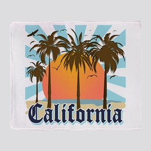 Vintage California Throw Blanket