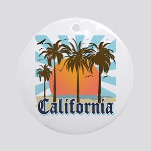 Vintage California Ornament (Round)