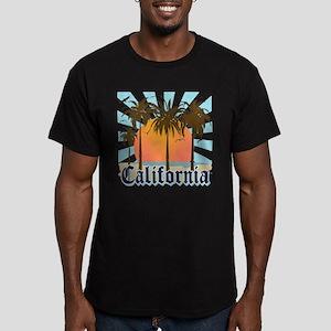 Vintage California Men's Fitted T-Shirt (dark)