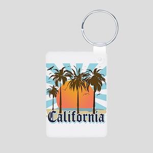 Vintage California Aluminum Photo Keychain