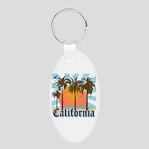 Vintage California Aluminum Oval Keychain