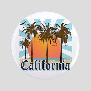 """Vintage California 3.5"""" Button"""