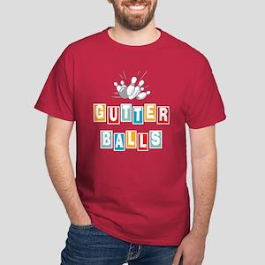 Funny Bowling Gutter Balls Dark T-Shirt